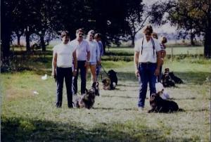 Hv de burght , borgharen , 1983 , maastricht, eerste groep , puppy cursus , Limburg
